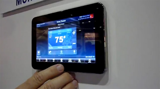 URC touchpanel