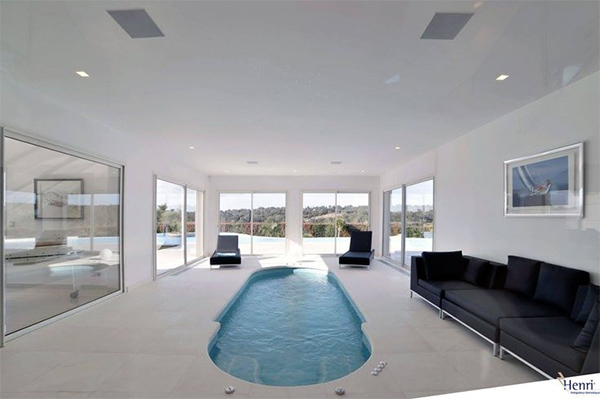 in-ceiling speaker pool spa
