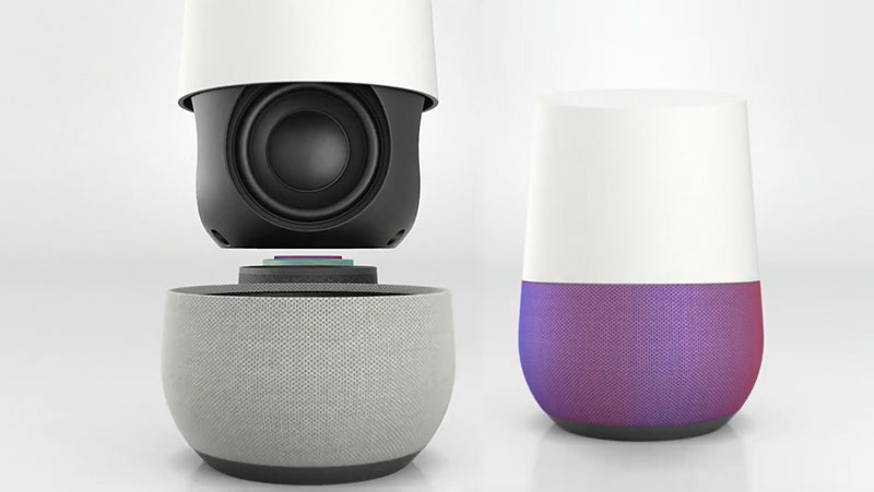 google home l 39 enceinte multiroom intelligente est. Black Bedroom Furniture Sets. Home Design Ideas