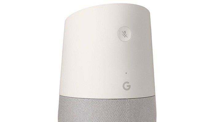 google home bouton micro