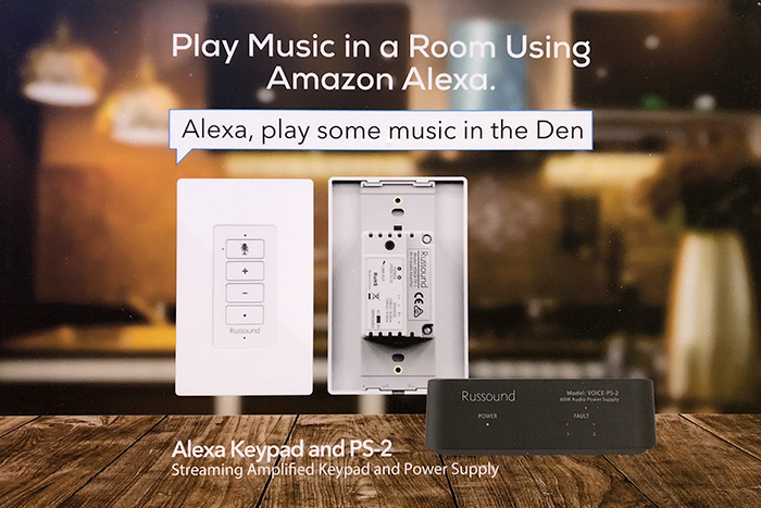Russound intègre Amazon Alexa et un amplificateur multiroom dans un interrupteur intelligent